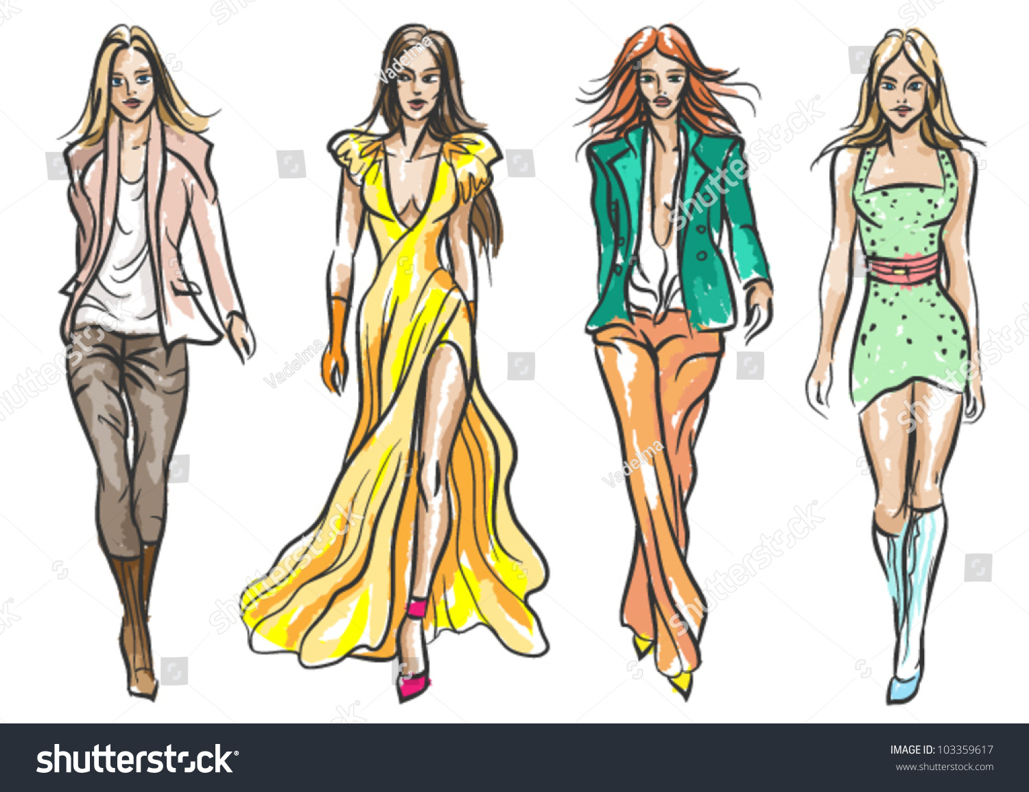 Learn how to sketch fashion clothes 94