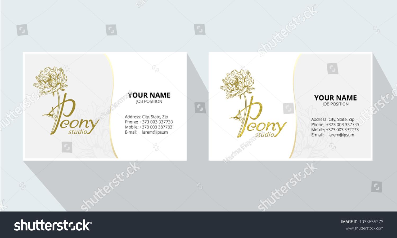 Peony Studio Logo Template Corporate Business Stock Vector ...