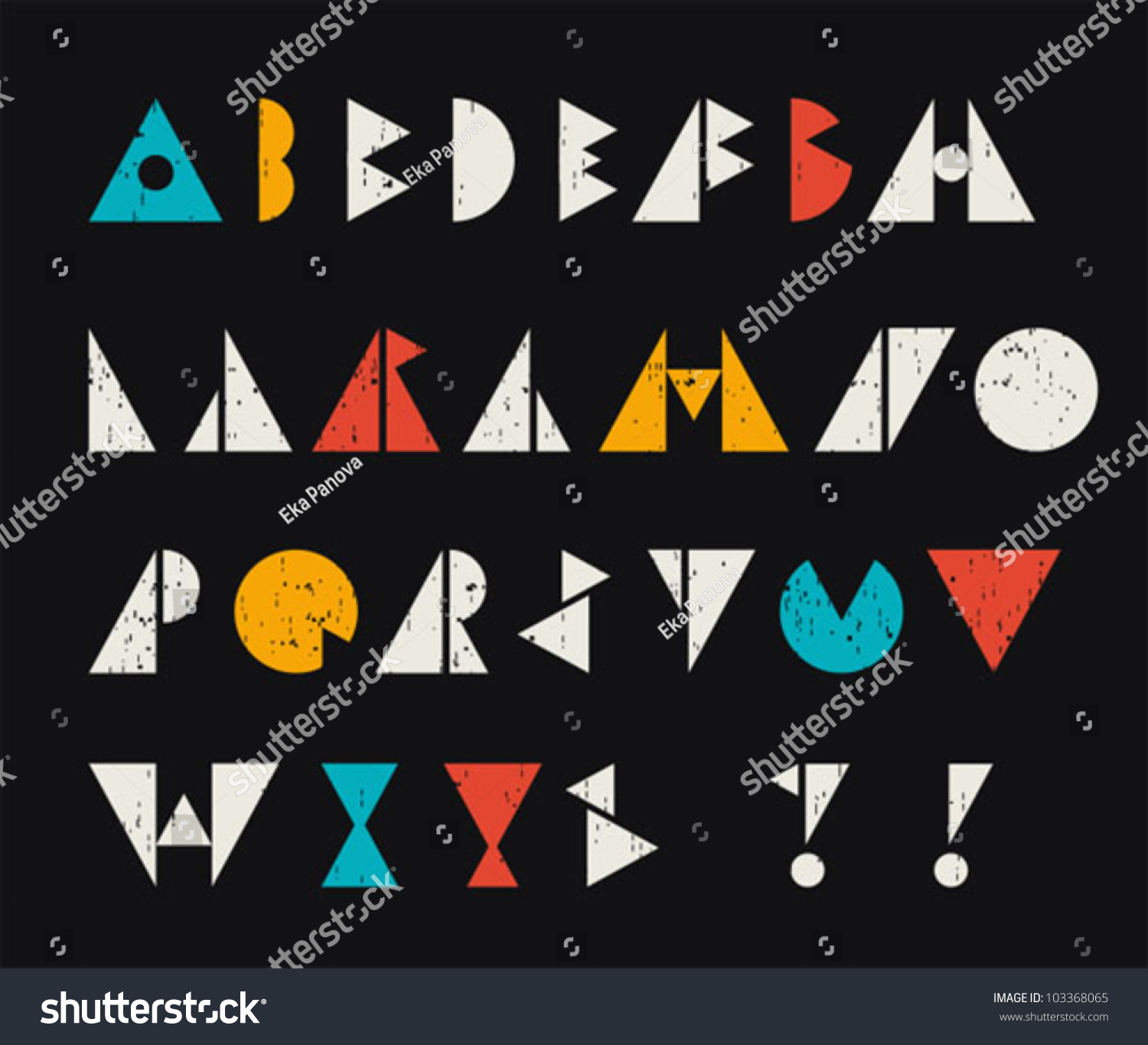 Abstract alphabet letters retro style cool stock vector 103368065 abstract alphabet letters in retro style cool vector illustration biocorpaavc Images