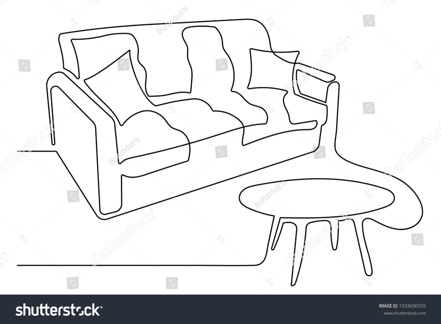 Fabulous Sofa Cushions Beside Coffee Table Interior Stock Vector Squirreltailoven Fun Painted Chair Ideas Images Squirreltailovenorg