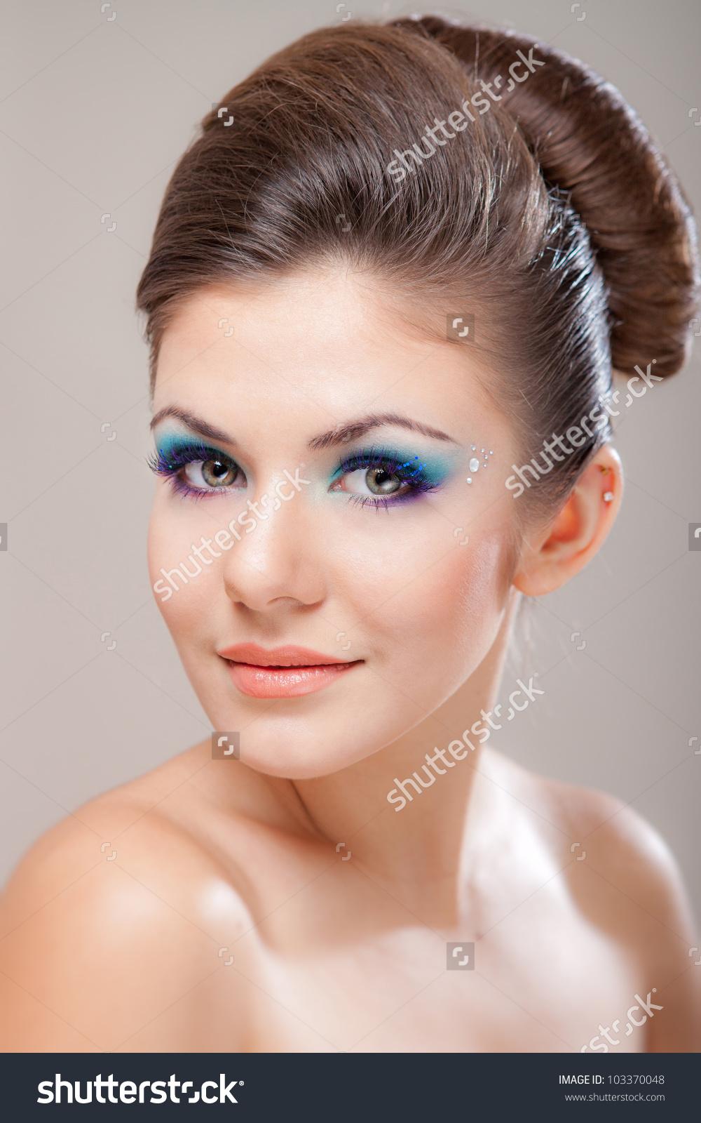 Closeup Portrait Beautiful Caucasian Young Woman Stock Photo 103370048 - Shutterstock