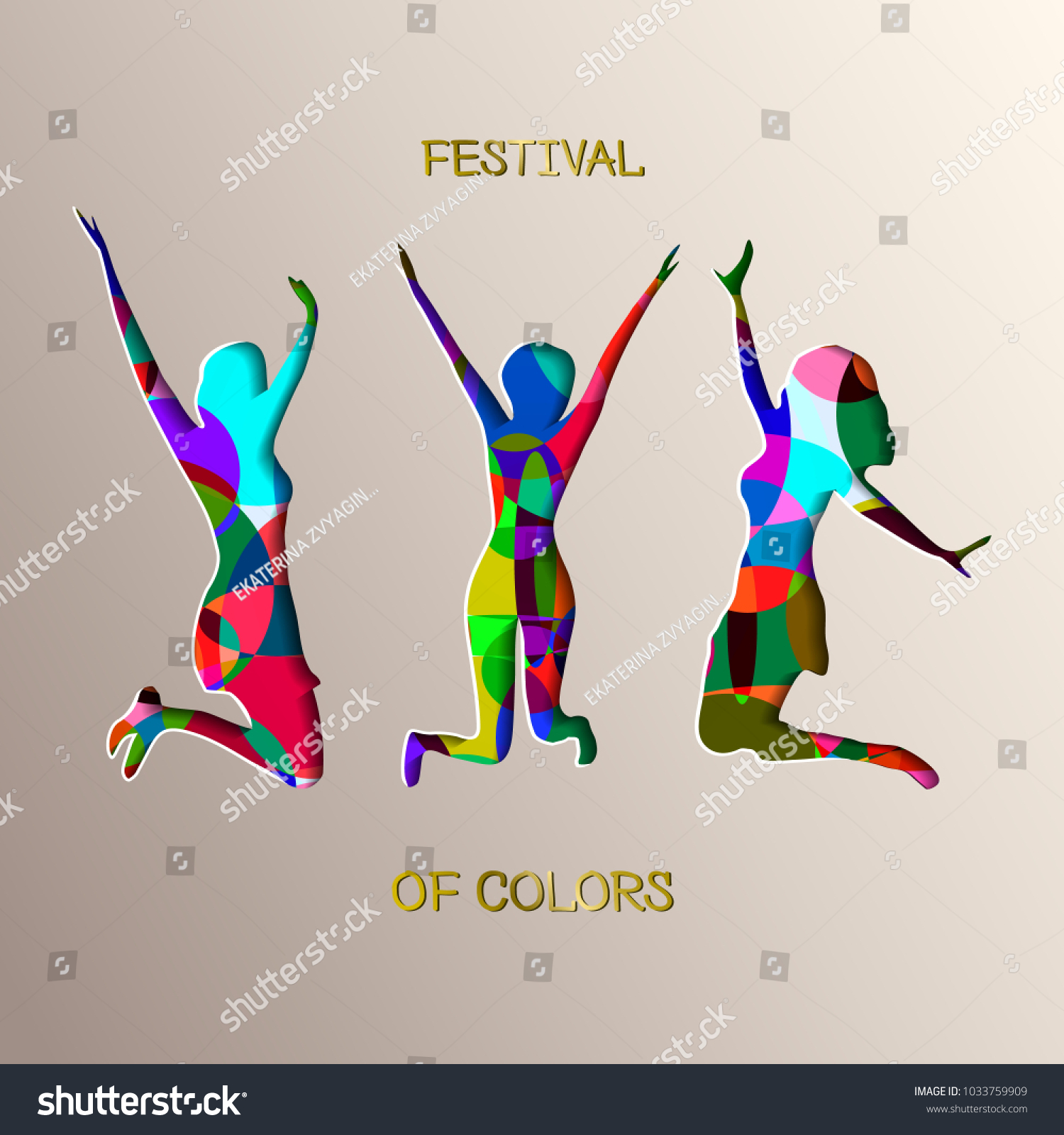Festival Colors Happy Holi Colorful Logo Stock Vector Royalty