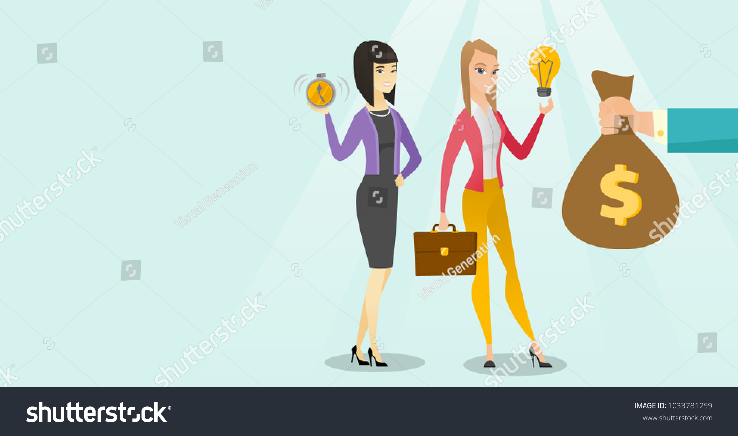 Young Caucasian White Business Woman Changing Stock Vector (2018