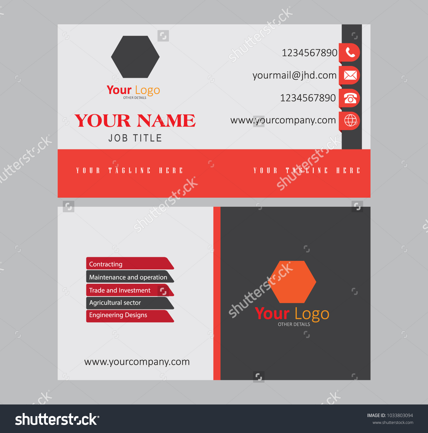 Creative Clean Abstract Business Card Designs Stock Vector ...