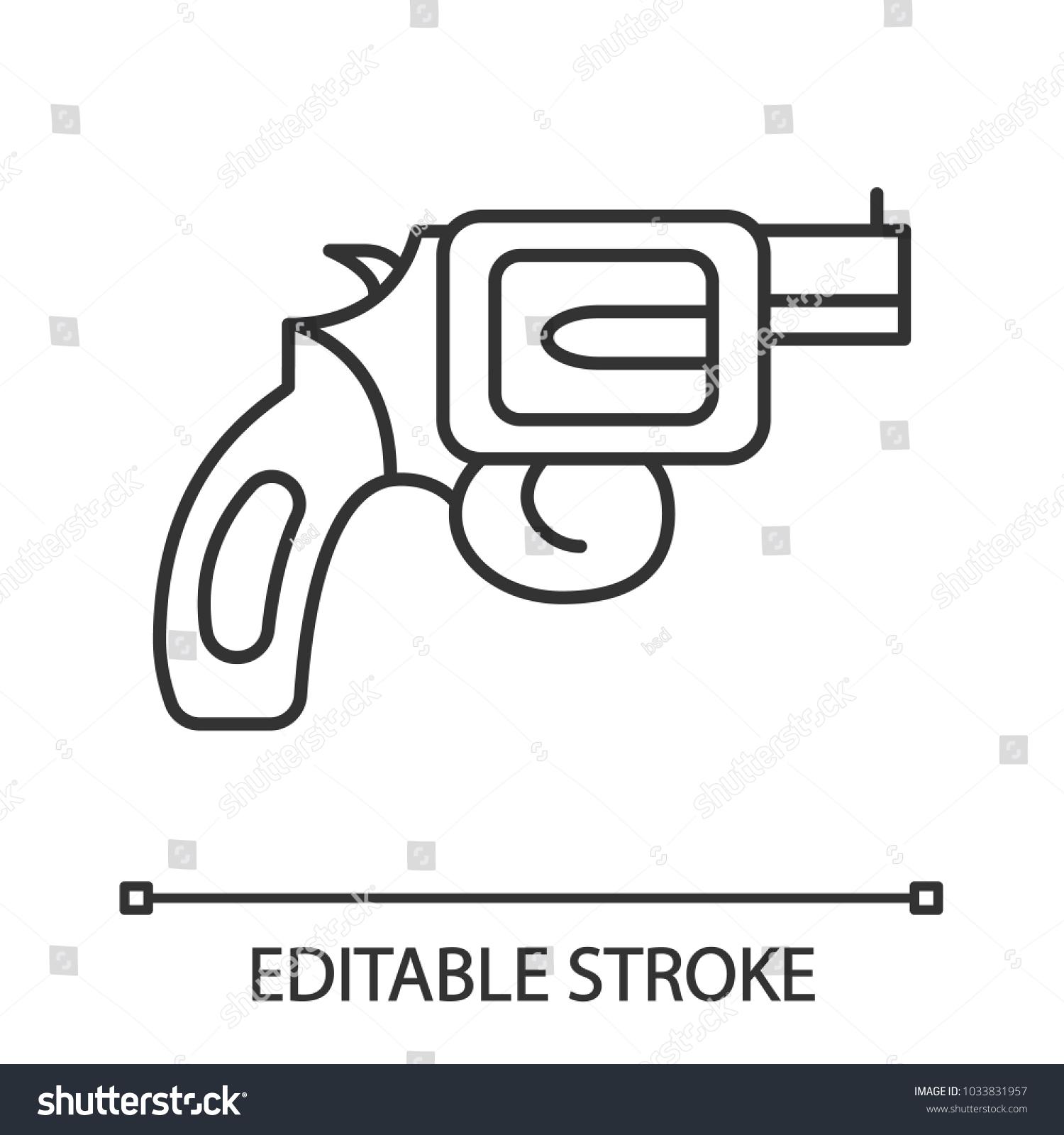 Pistol text symbol gallery symbol and sign ideas pistol text symbol choice image symbol and sign ideas revolver linear icon pistol gun thin stock biocorpaavc