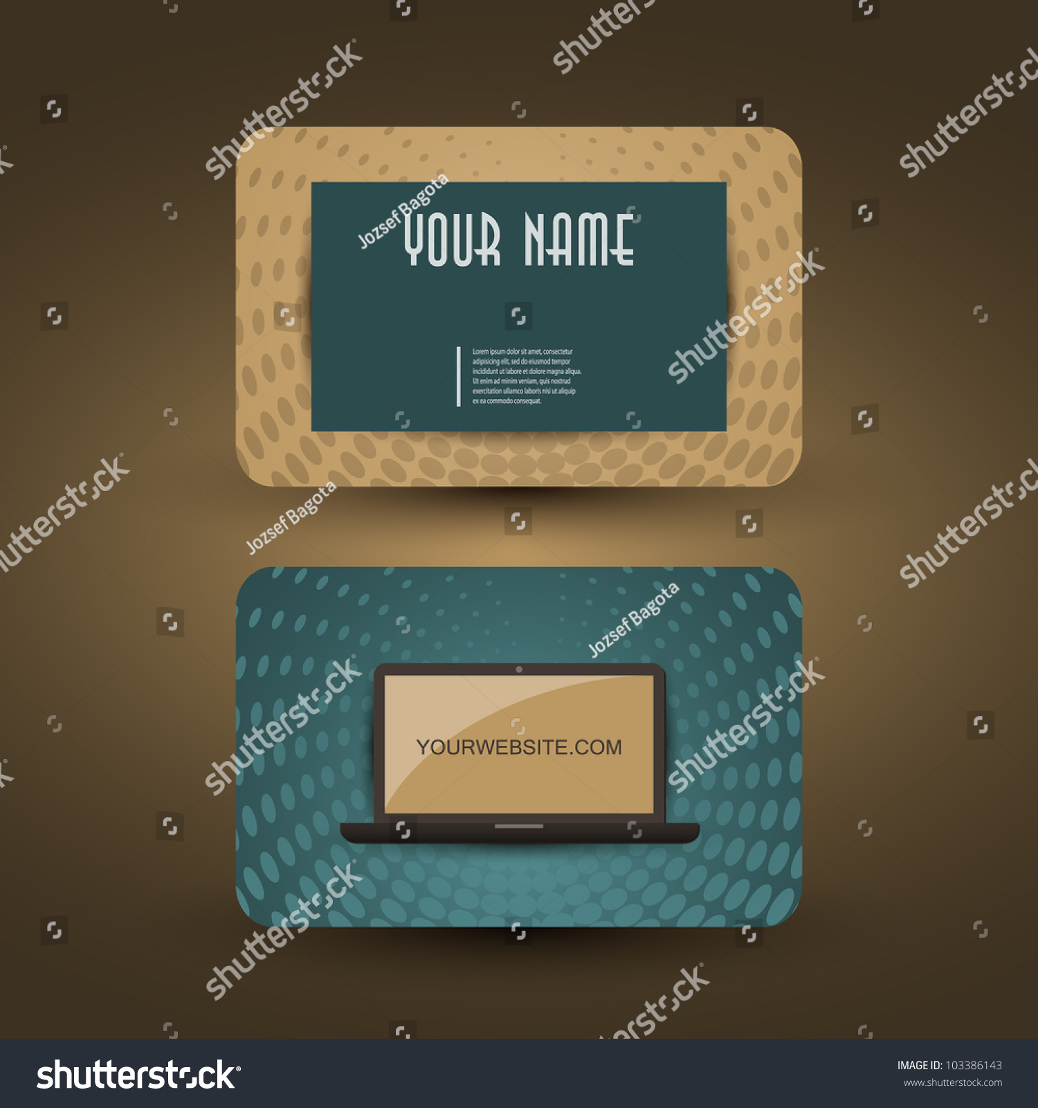 Retro business card template stock vector 103386143 shutterstock retro business card template friedricerecipe Images