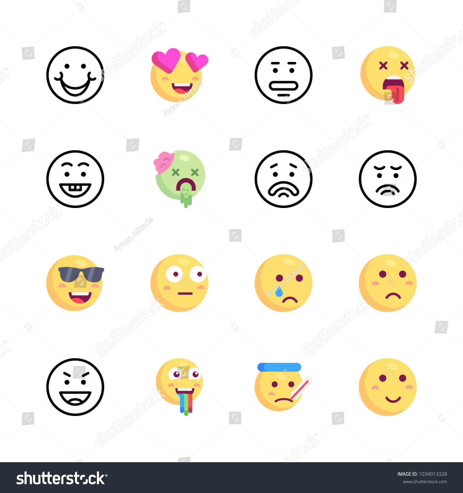 Icons emoji vector cry emoji cool stock vector 1034013328 shutterstock icons emoji vector cry emoji cool emoji and sad biocorpaavc Images
