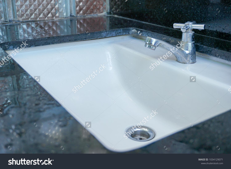 Modern Hygienic Wash Basin Office Hand Stock Photo (Royalty Free ...