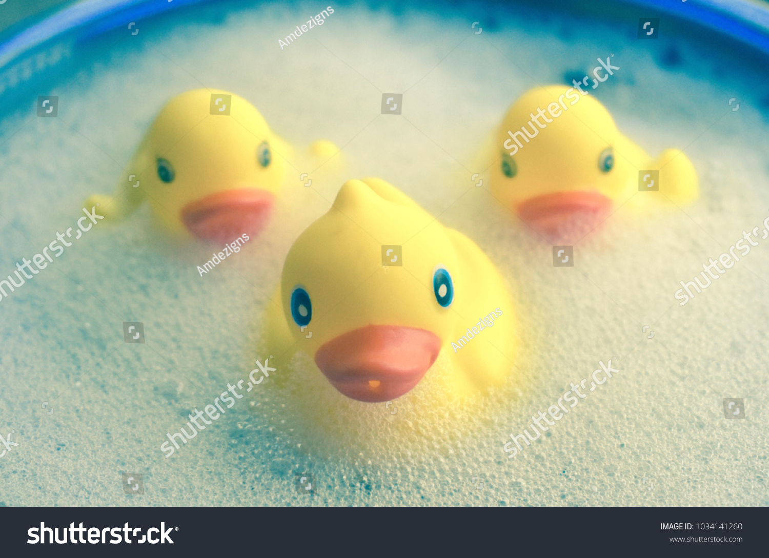 Little Rubber Duckies Bubble Bathtub Stock Photo (Safe to Use ...