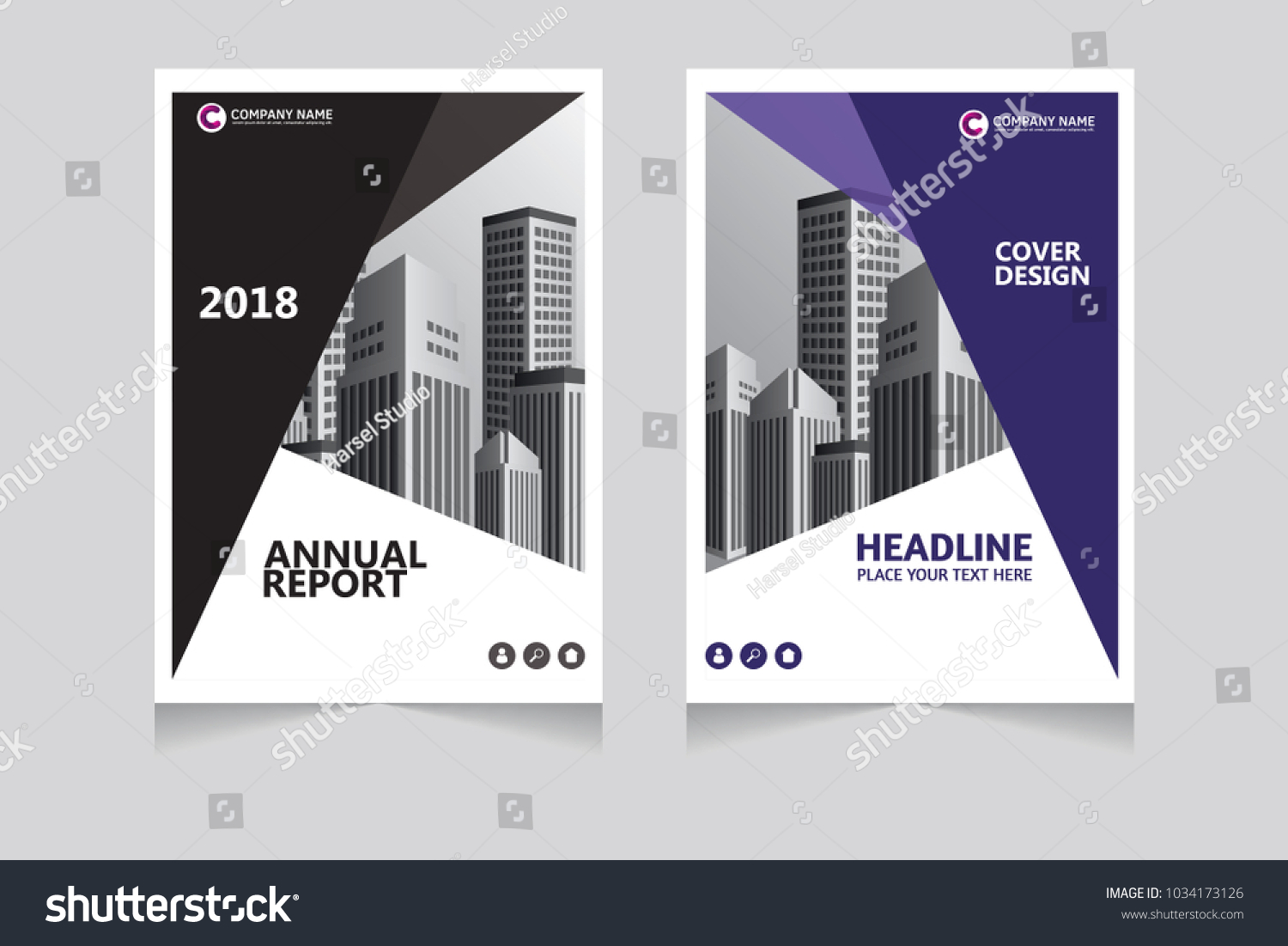 Annual Report Pamphlet Presentation Brochure Front Stock