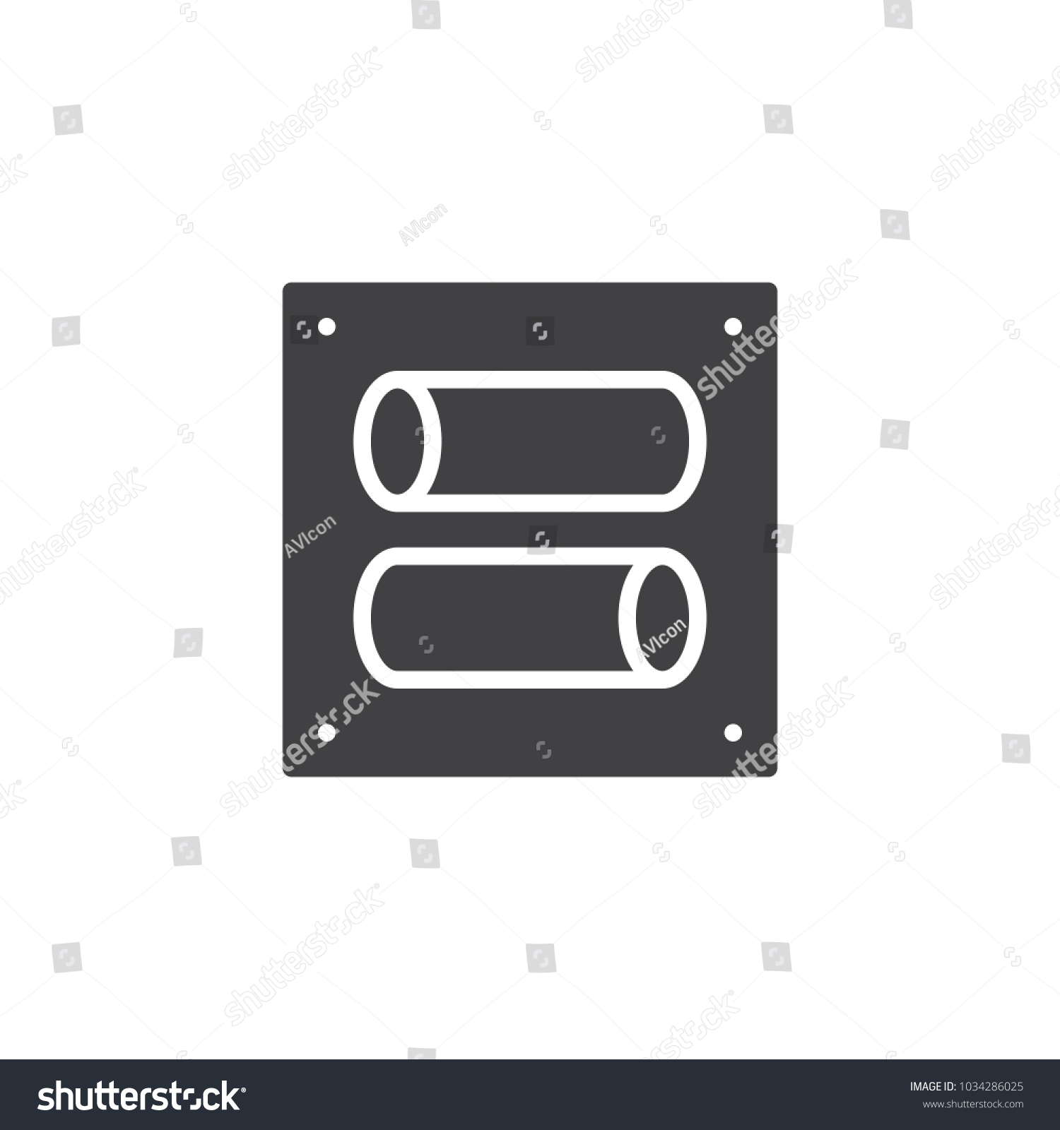 Toggle Switch Vector Icon Filled Flat Stock Vector 1034286025 ...