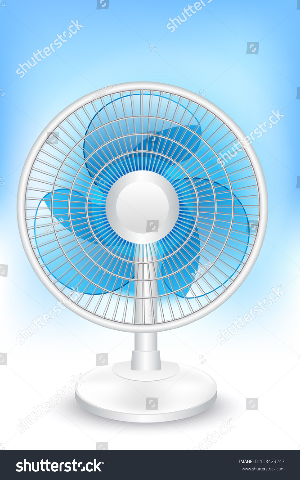 Electric Table Fan Illustration Stock Vector Royalty Free Diagram All Picture
