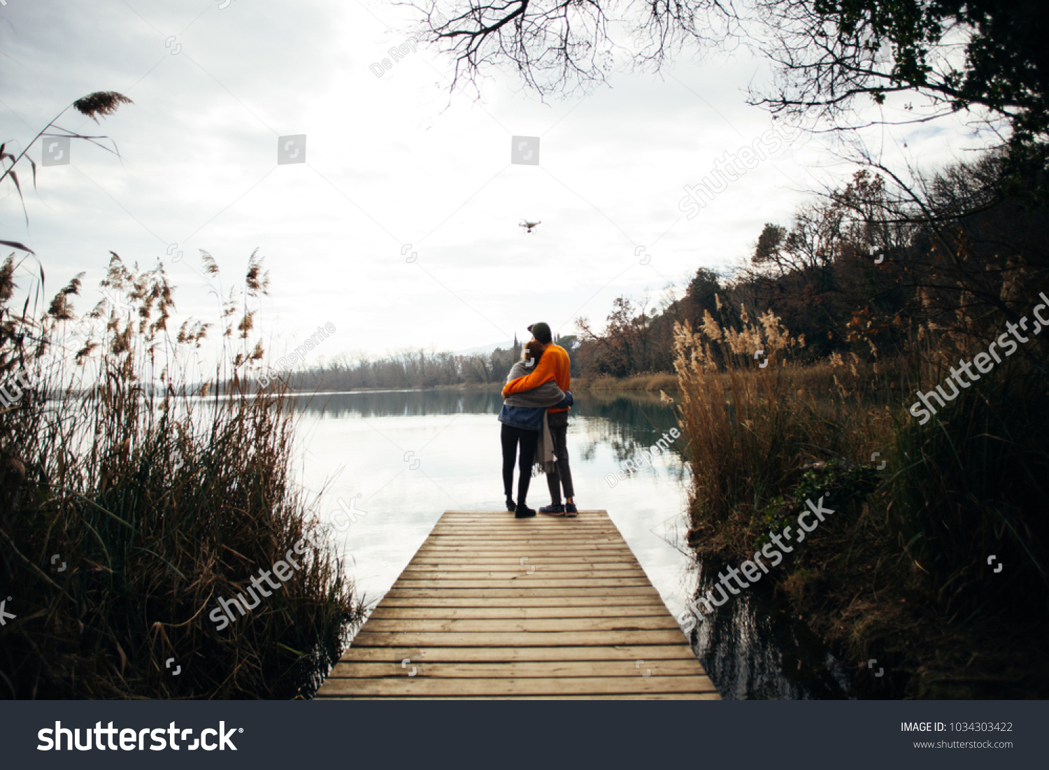 Young Hipster Couple Millennial Teenagers Boyfriend Stock Photo Edit Now 1034303422
