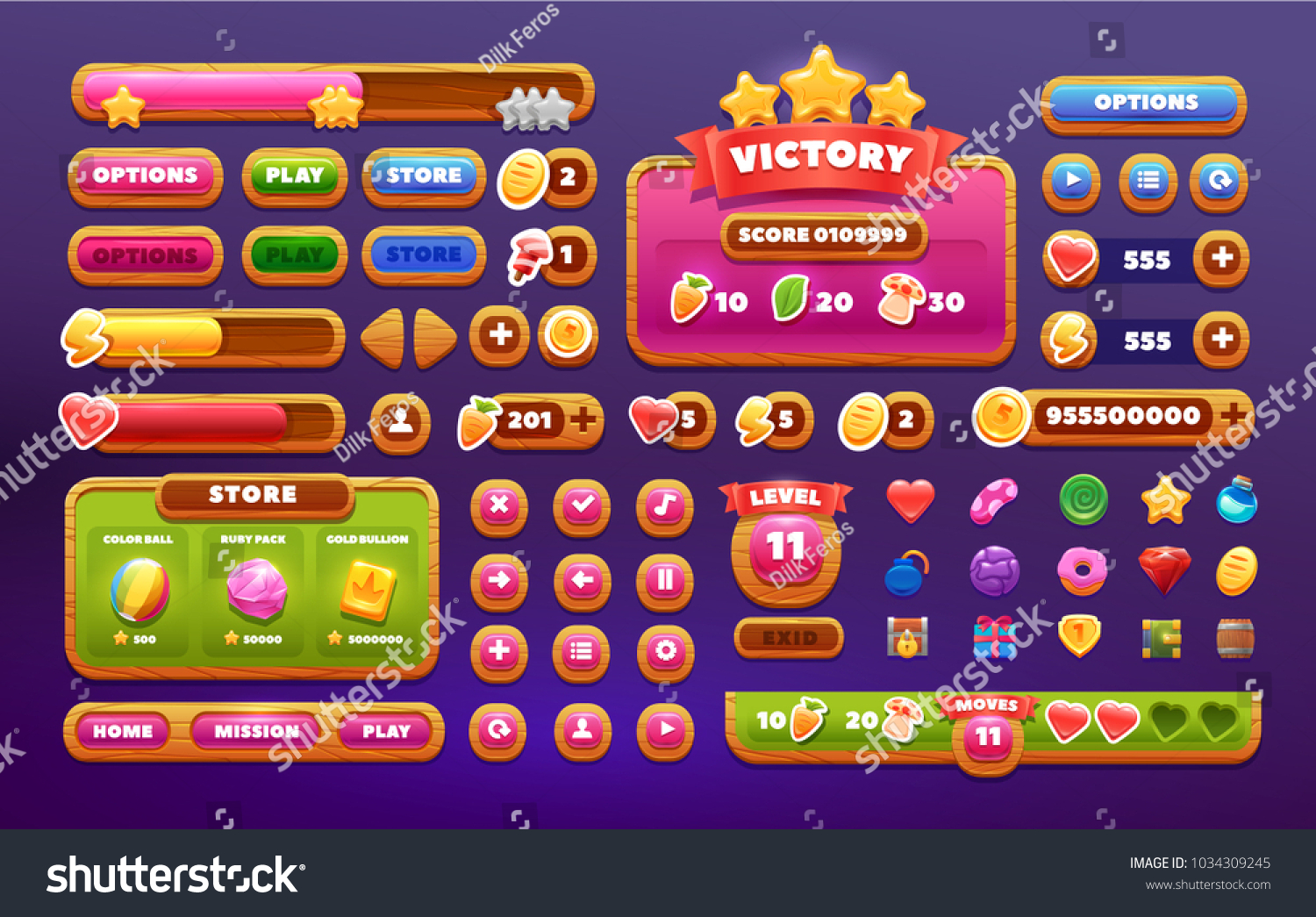 Fashion Match 3 Mobile Game Glossy UI Design Game UI Design UI