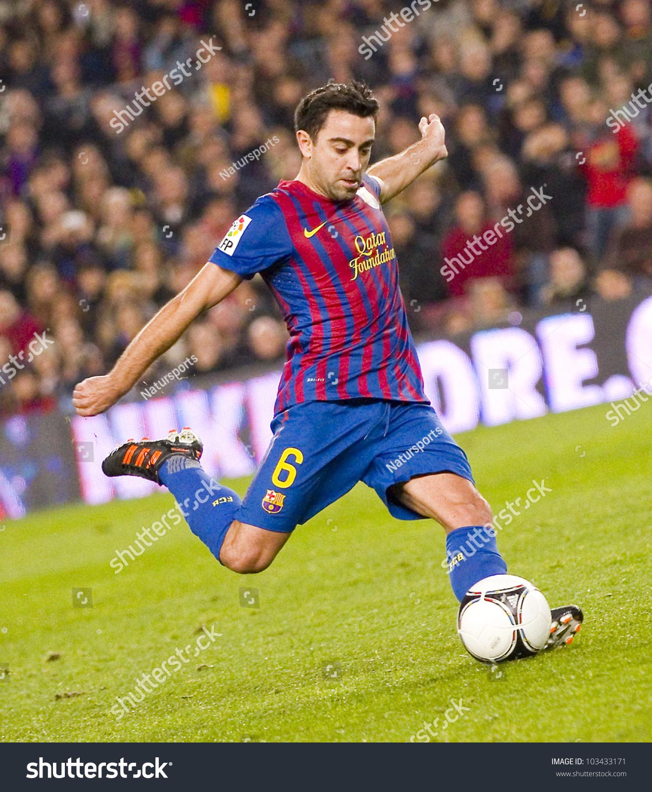 Barcelona January 4 Xavi Hernandez Barcelona Stock