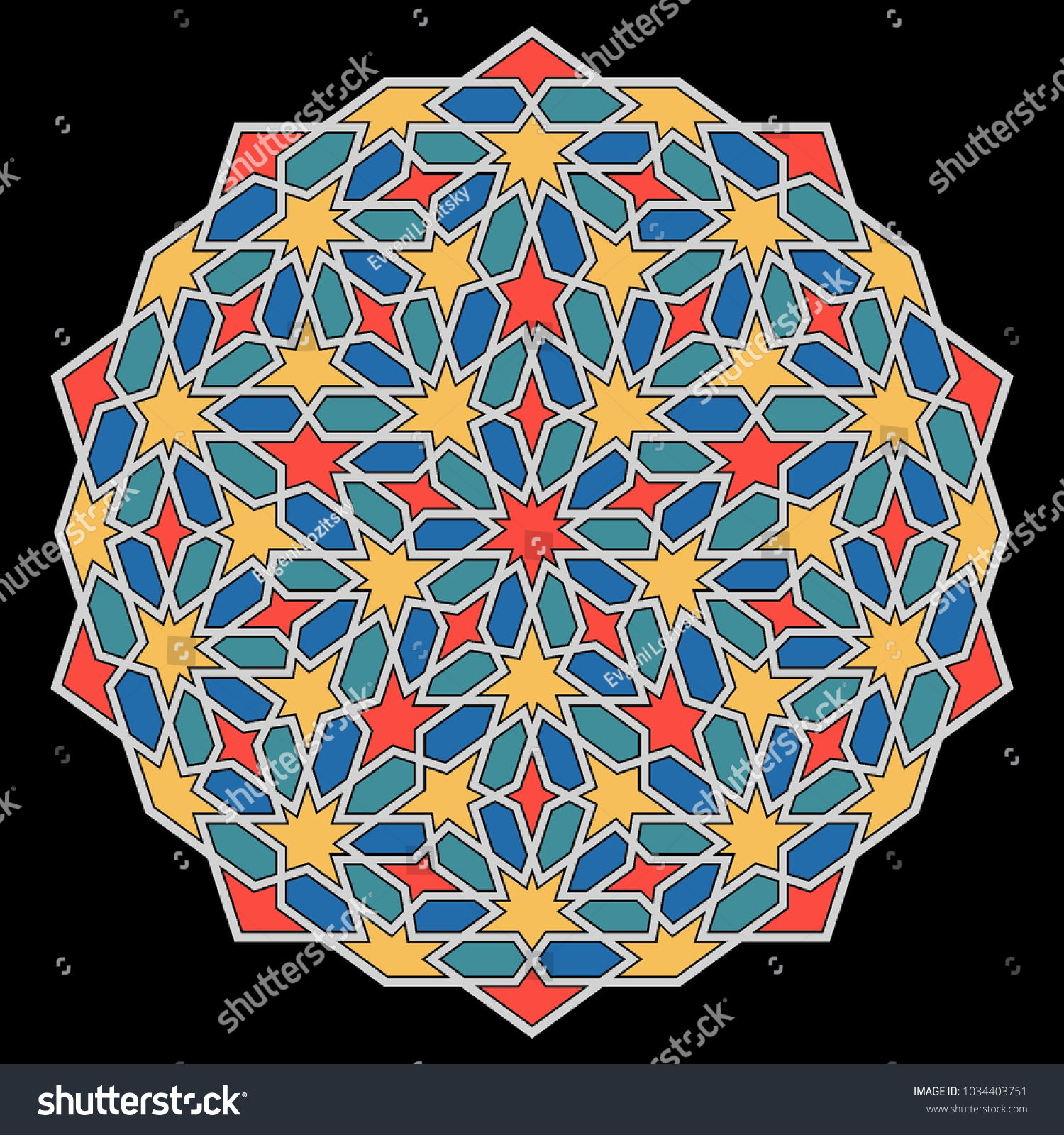 Islamic Pattern Geometric Lattice Mandala Arabic Stock Vector (2018 ...