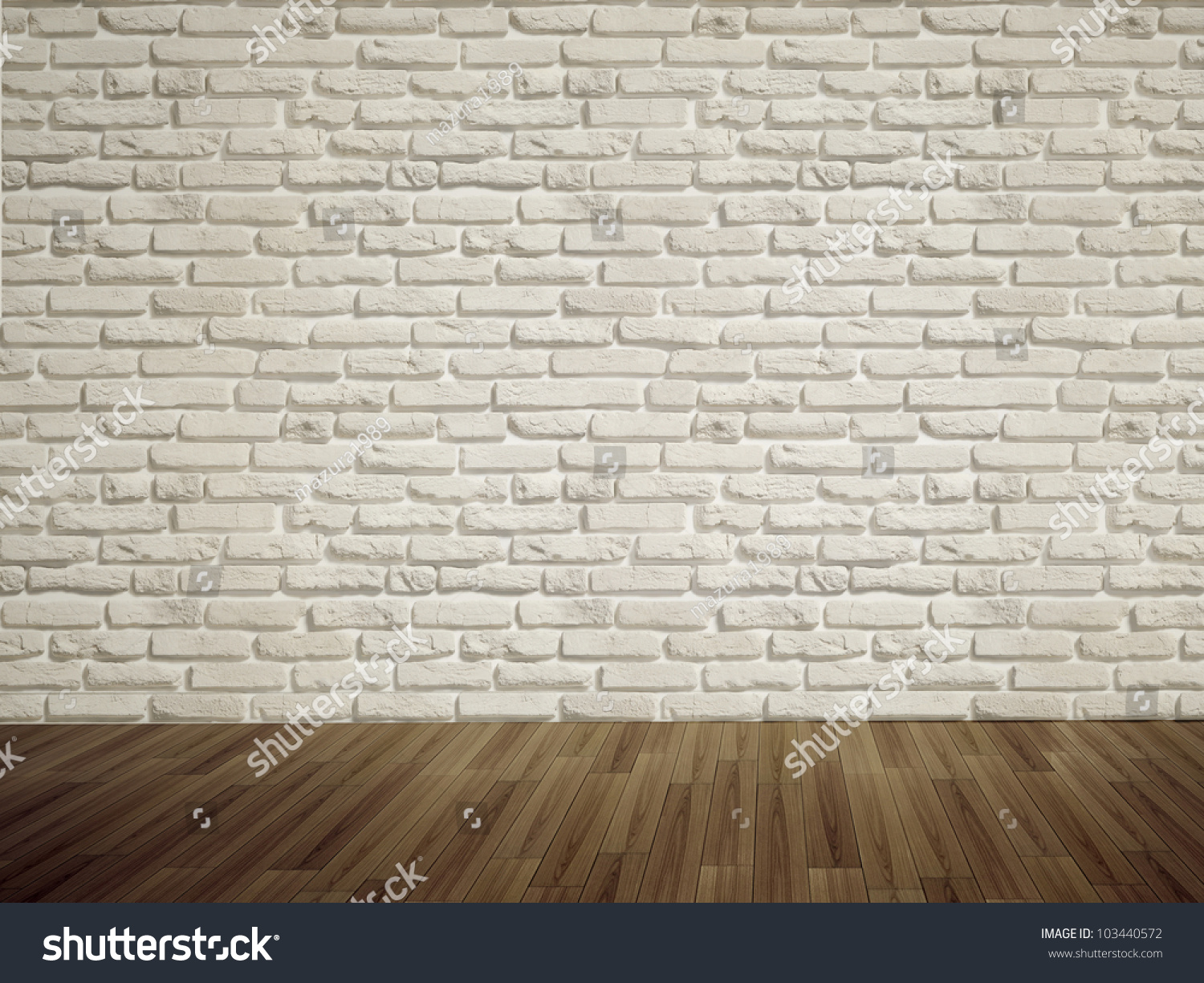 shutterstock of image dimensional brick and photo stock interior wall with floor illustration three threedimensional concrete