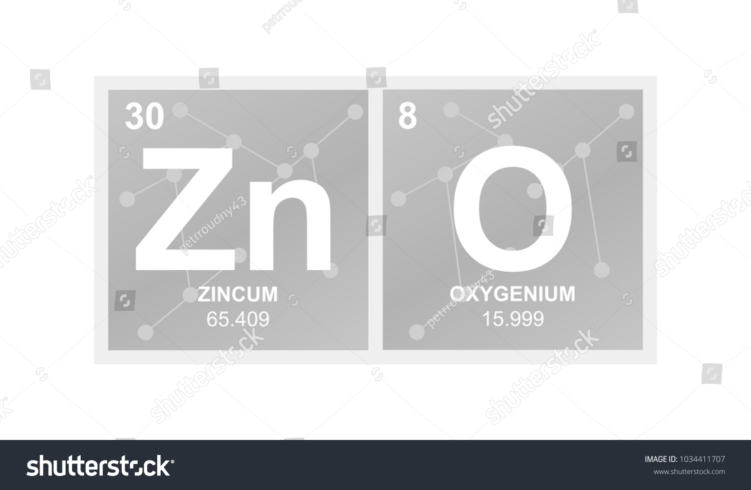 Vector Symbol Zinc Oxide Which Called Stock Vector Royalty Free