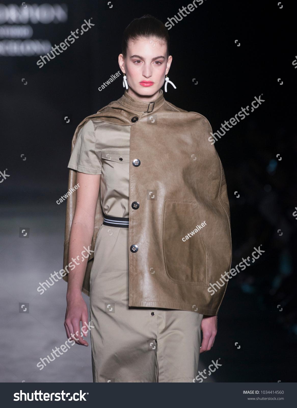 fe0f2fff355 MADRID - FEBRUARY 21  a model walks on the Maya Hansen catwalk during the  Mercedes-Benz Fashion Week Madrid Fall Winter 2016 runway on February 21