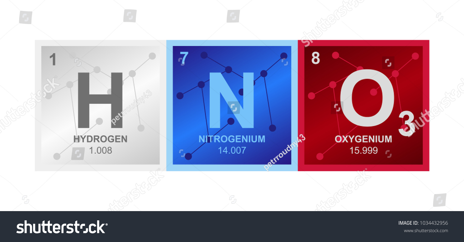Vector Symbol Nitric Acid Which Consists Stock Vector Royalty Free