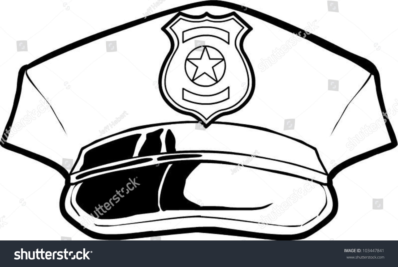 Police Hat Stock Vector 103447841 : Shutterstock