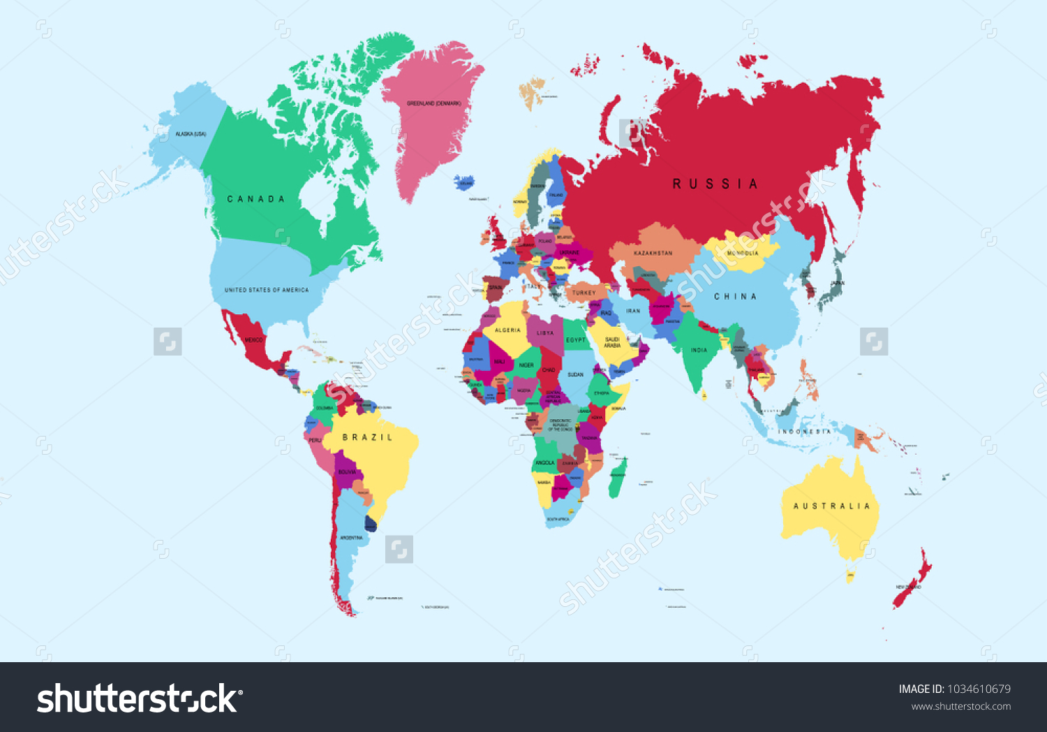World map vector stock vector 1034610679 shutterstock world map vector gumiabroncs Choice Image