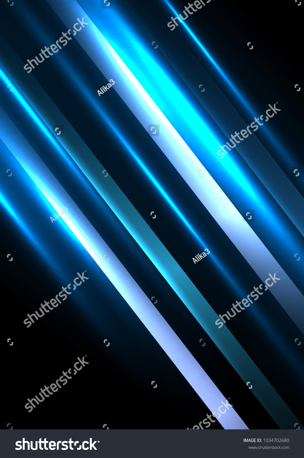 Abstract Wallpaper Blue Lines On Black Stock Vector Royalty Free