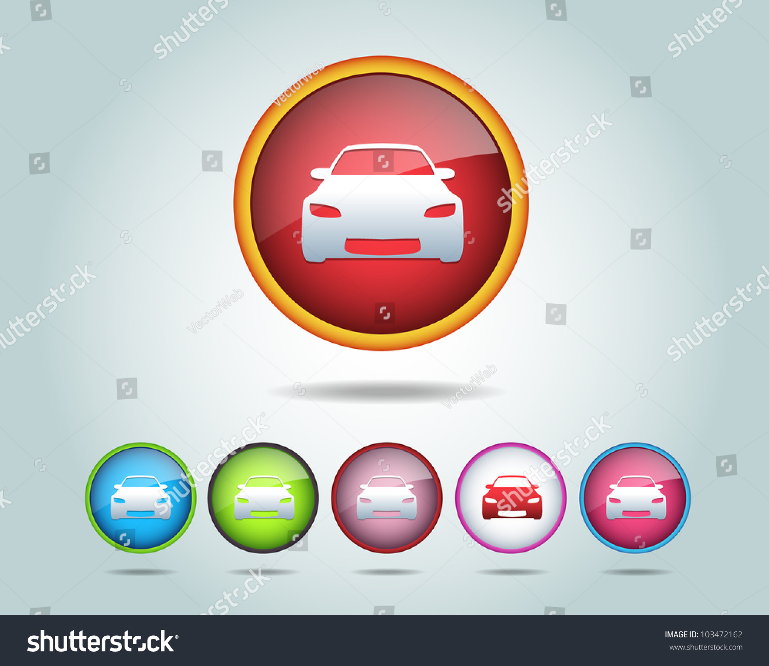 car icon button vector design 103472162 shutterstock. Black Bedroom Furniture Sets. Home Design Ideas