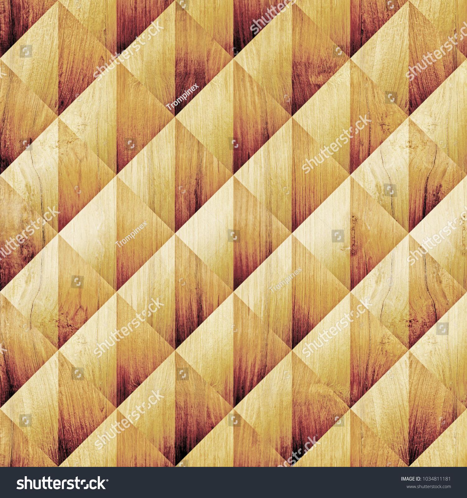 Abstract Diamond Pattern Seamless Background Wood Stock Illustration ...