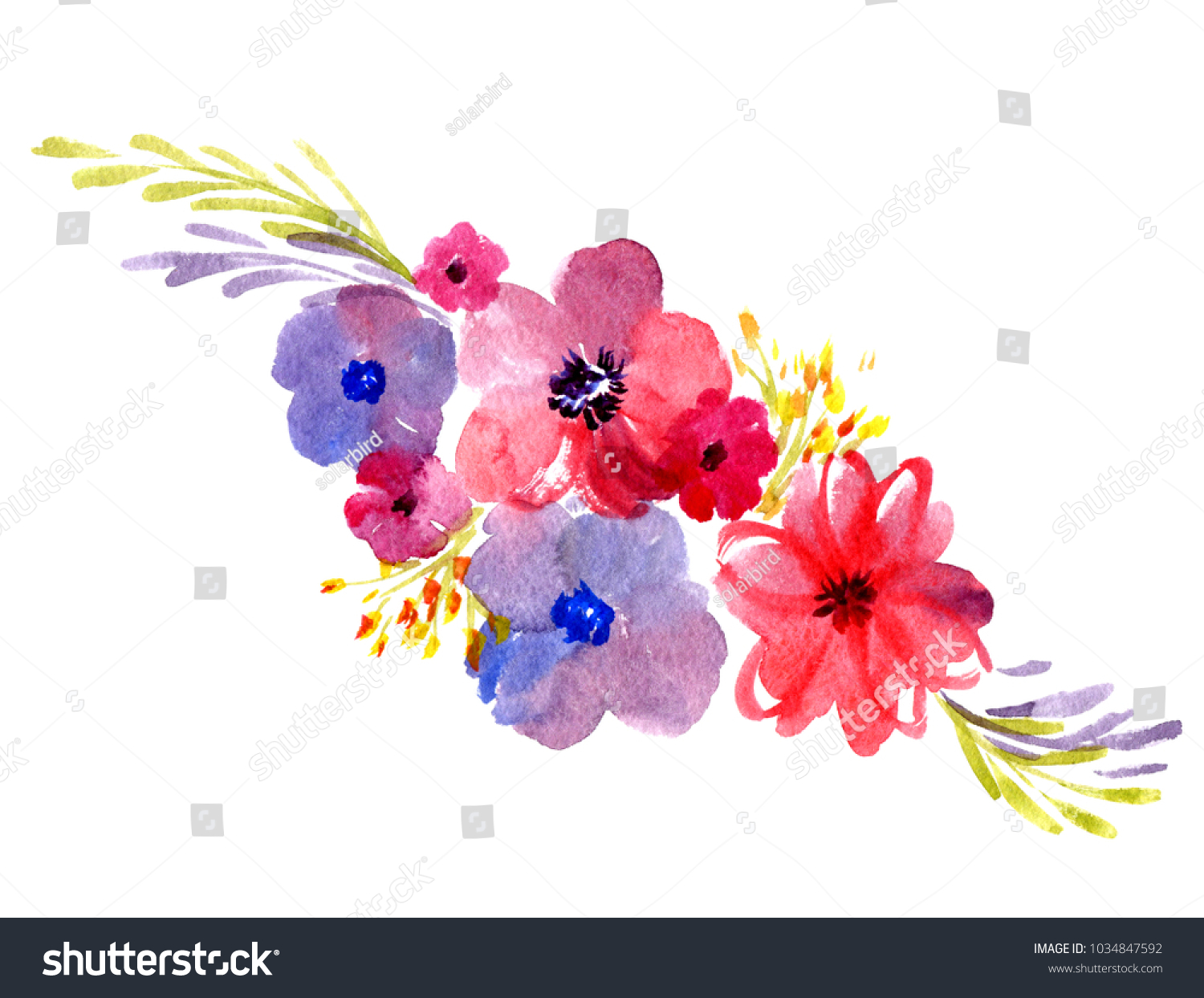 Royalty Free Stock Illustration Of Bouquet Delicate Watercolor