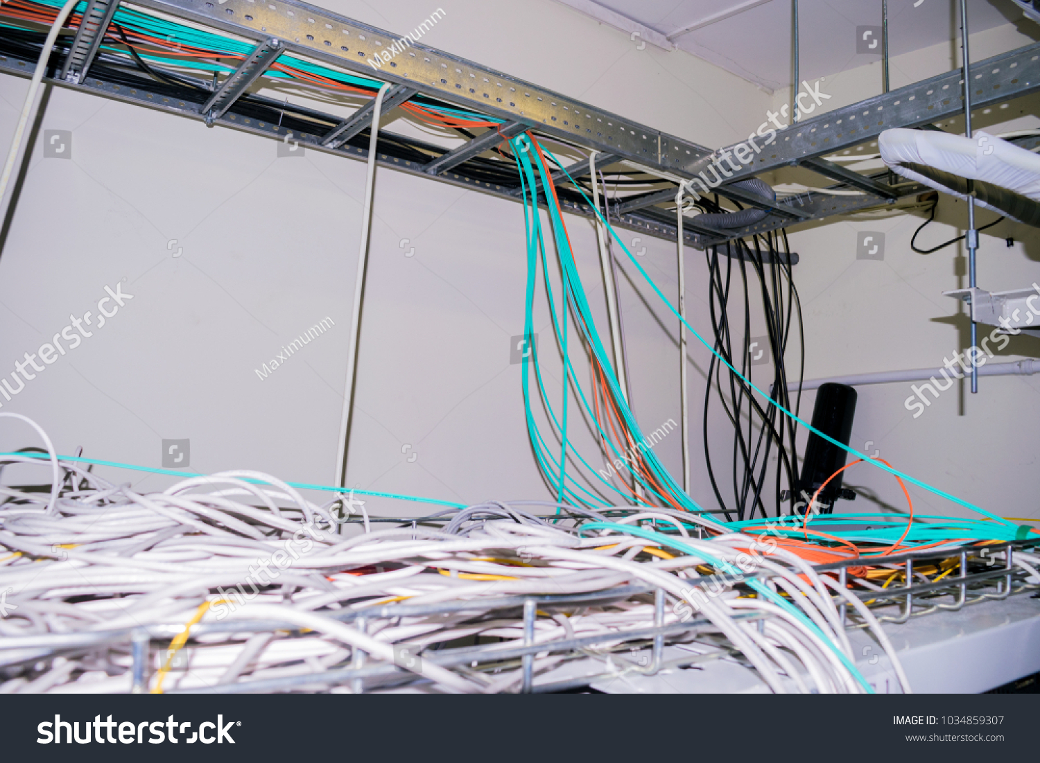 Messy Wires Tangled Among Themselves On Stock Photo (Edit Now ...