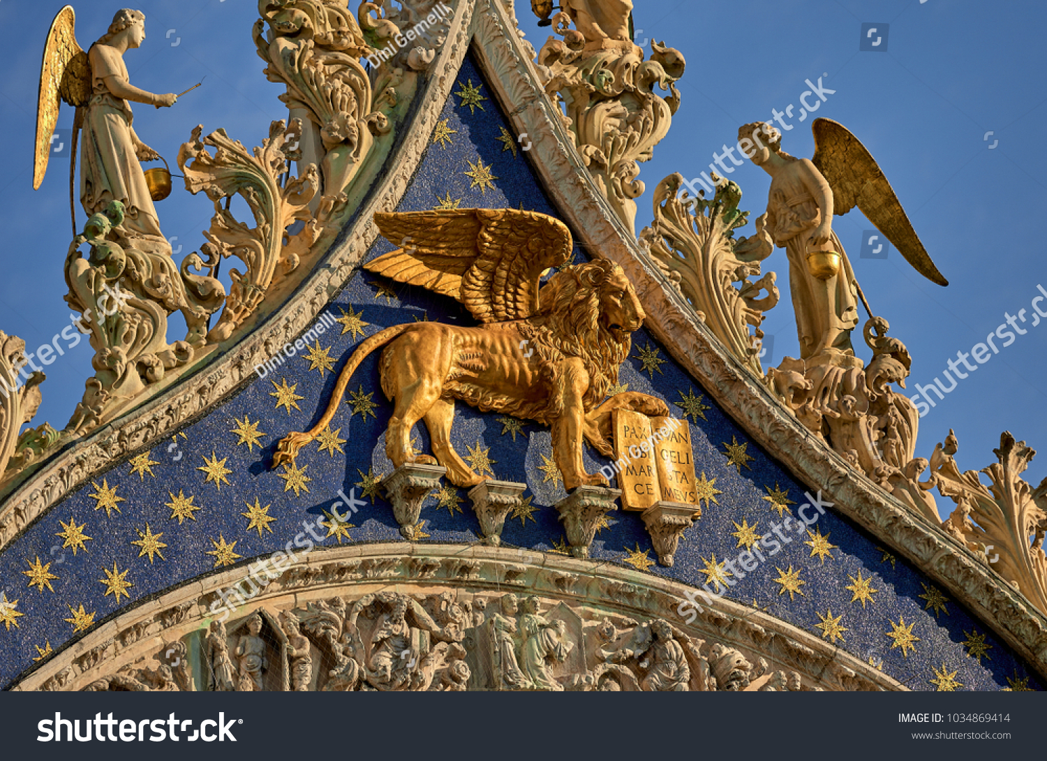 Italy Venice Details Gable St Marks Stock Photo Edit Now