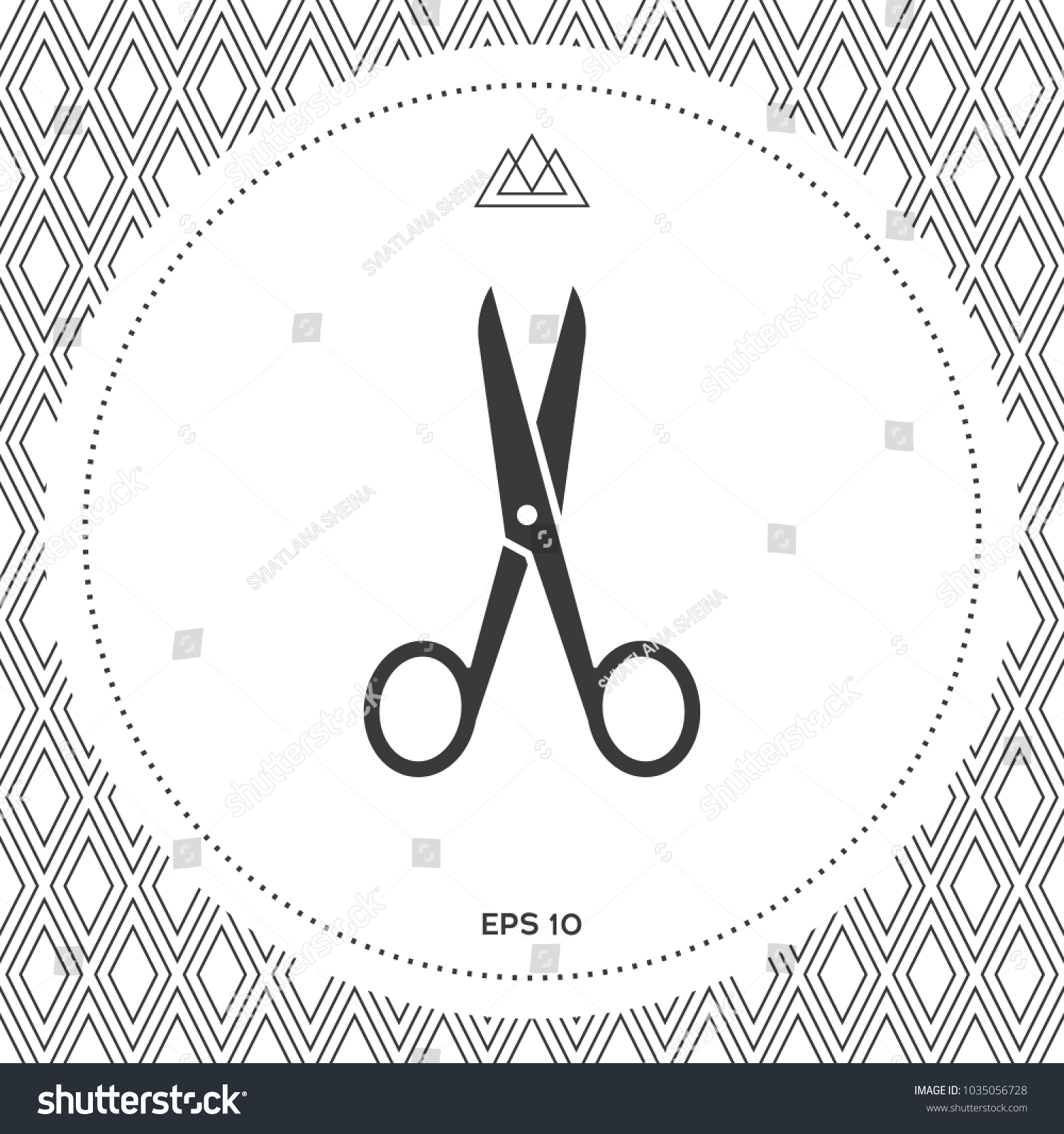 Scissors icon symbol stock vector 1035056728 shutterstock scissors icon symbol biocorpaavc
