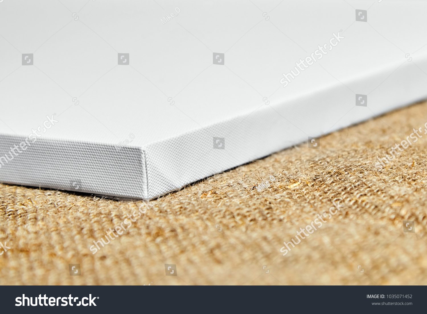 Pure White Synthetic Canvas Stretched On Stock Photo (Royalty Free ...