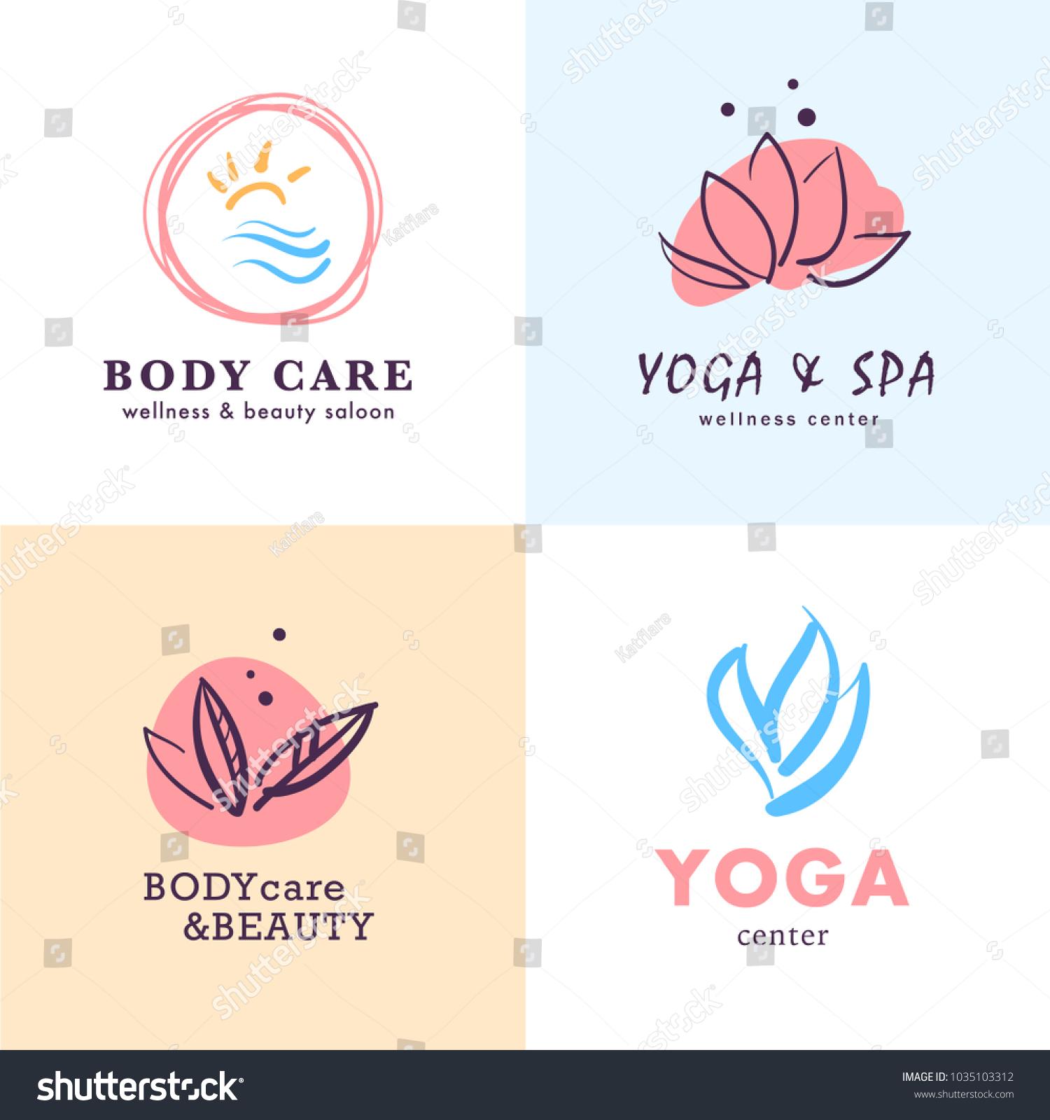 Vector Collection Yoga Beauty Spa Symbols Stock Vector Royalty Free