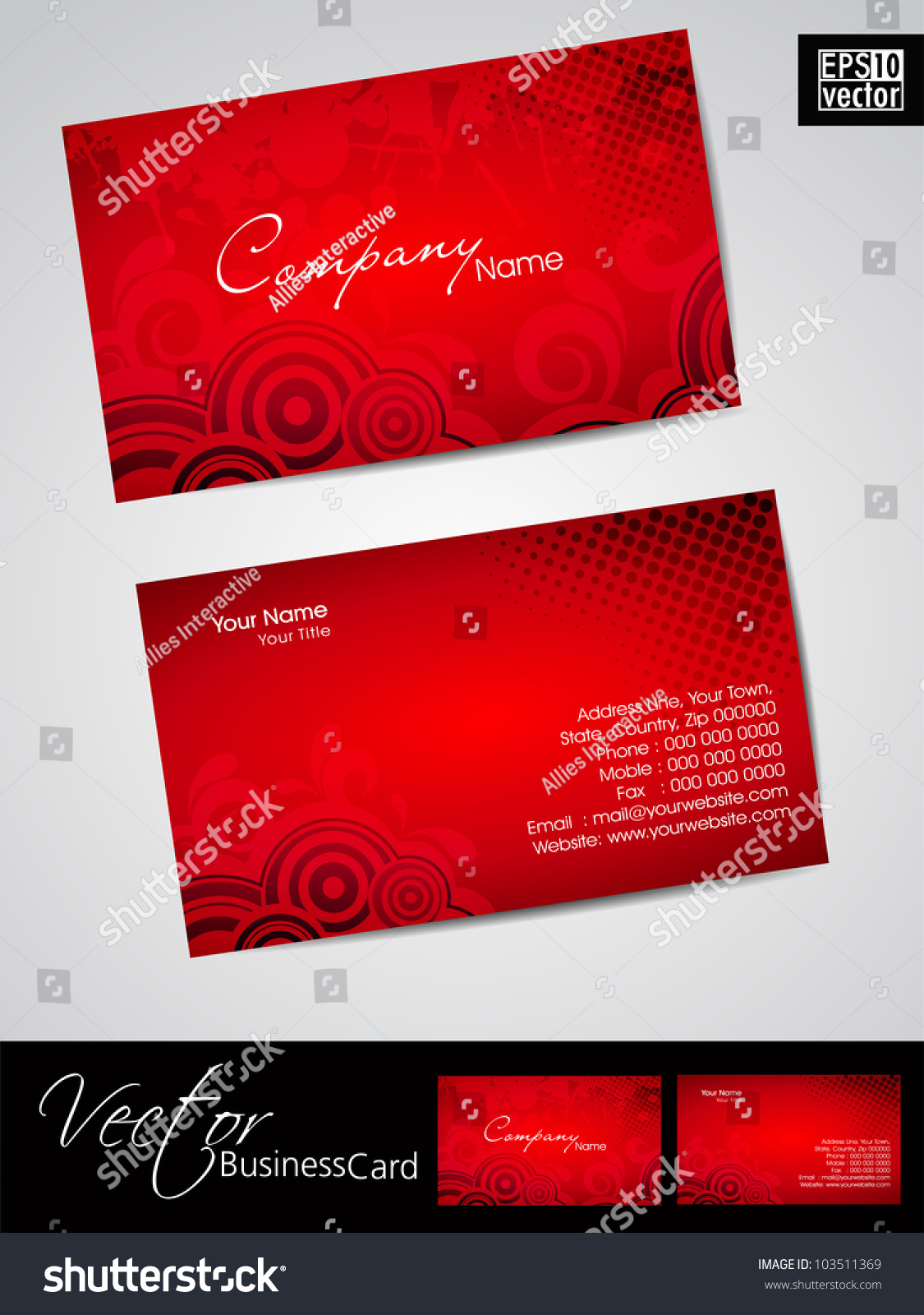 Abstract professional designer business card template stock vector abstract professional and designer business card template or visiting card set in red color eps fbccfo Choice Image