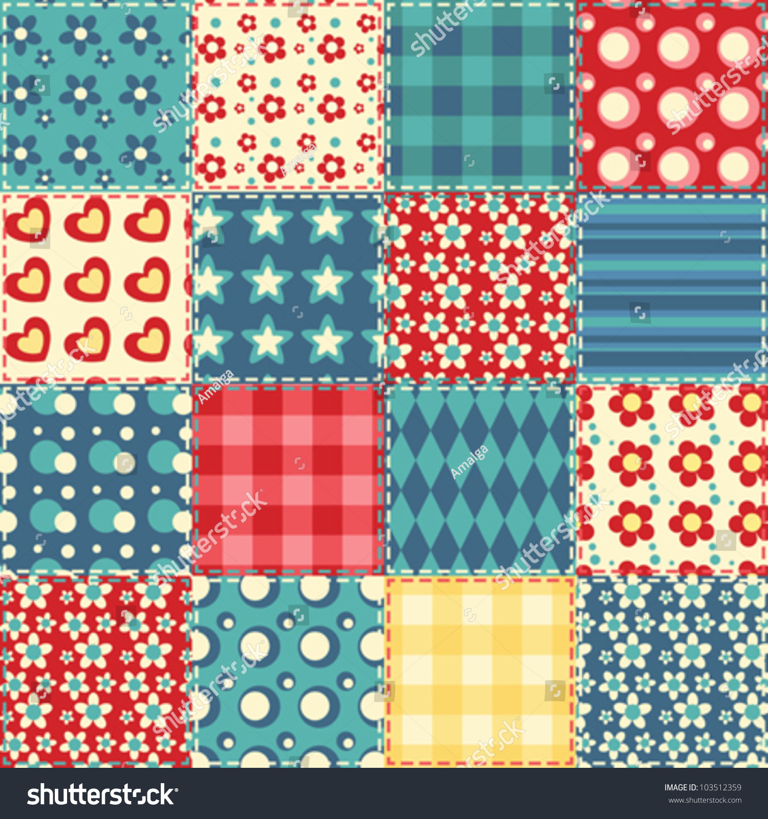 patchwork background quilt seamless pattern vector patchwork background stock 3887