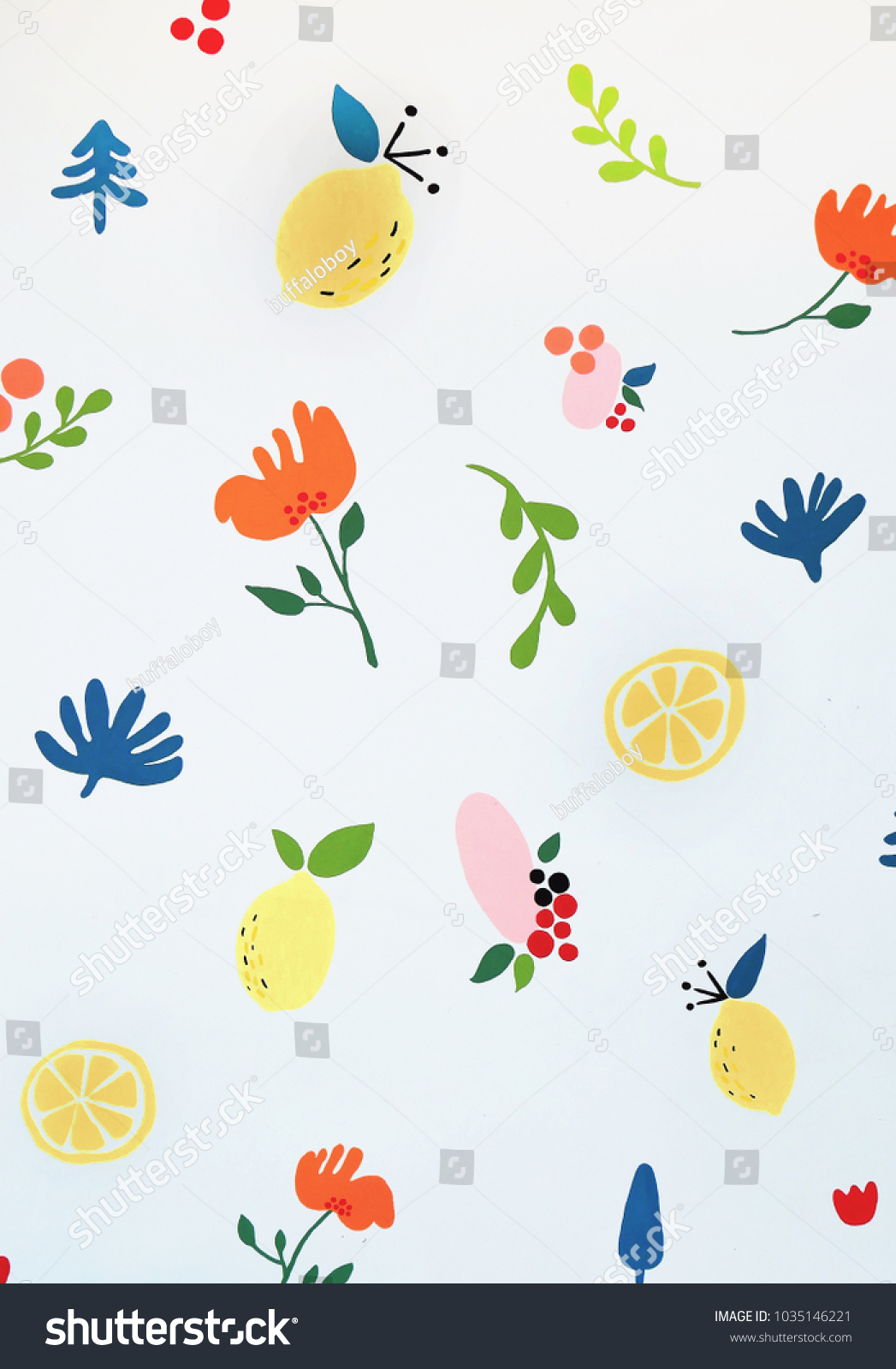Water Colour Cute Wallpaper For Kid Hand Draw Painting Flower Little Grass