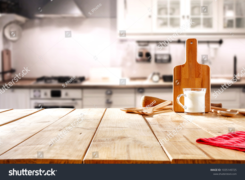 Foto de stock sobre Fondo de mesa en la cocina (editar ahora ...