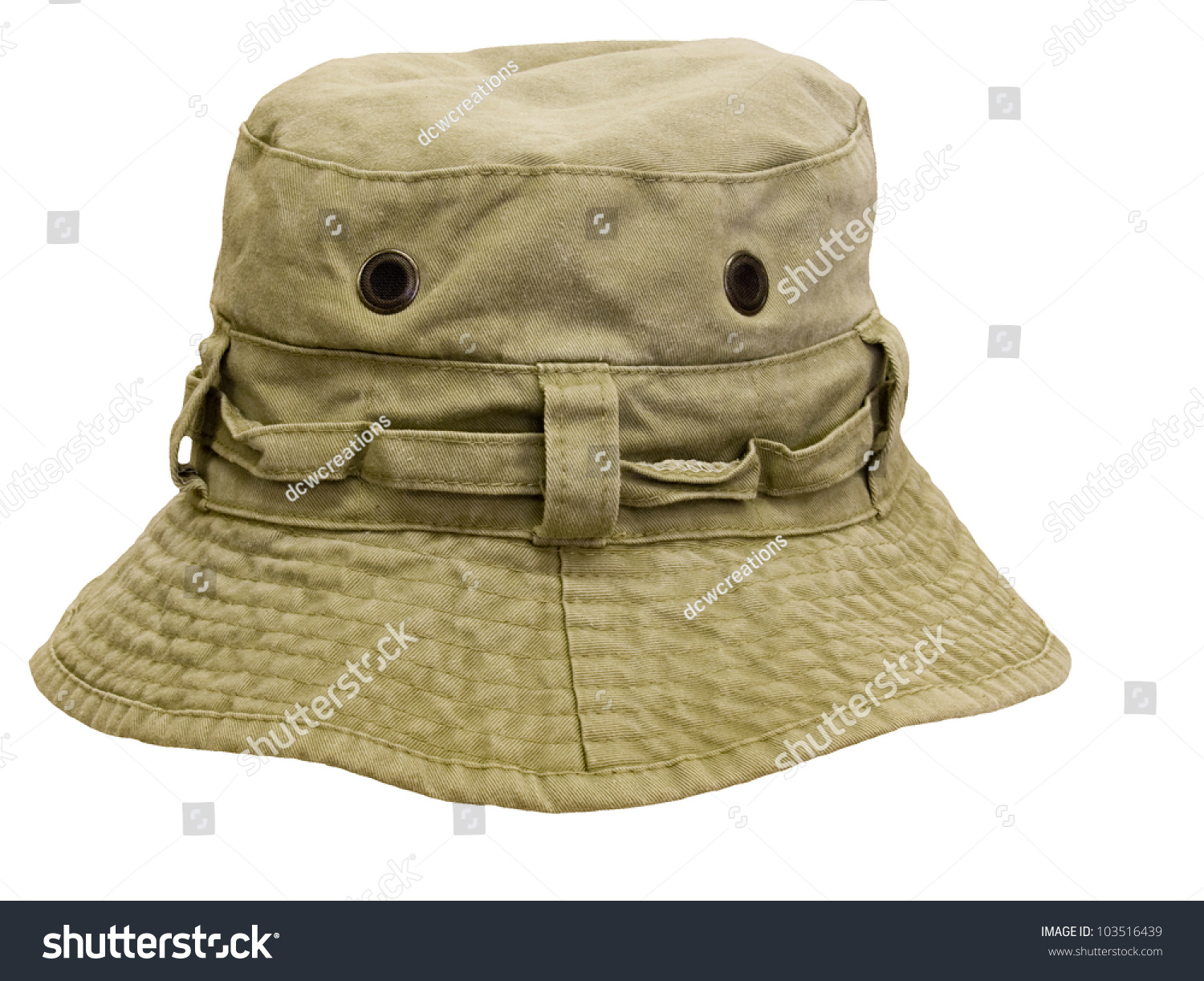 Trout fishing hat isolated over a white background stock for Trout fishing hat