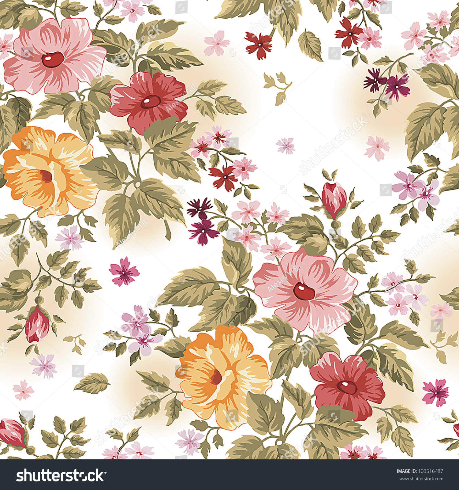 Seamless pink floral pattern - photo#48