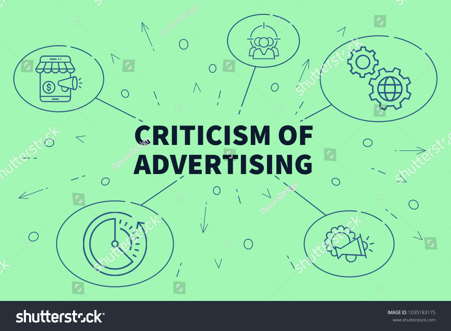 Conceptual Business Illustration Words Criticism Advertising Stock ...