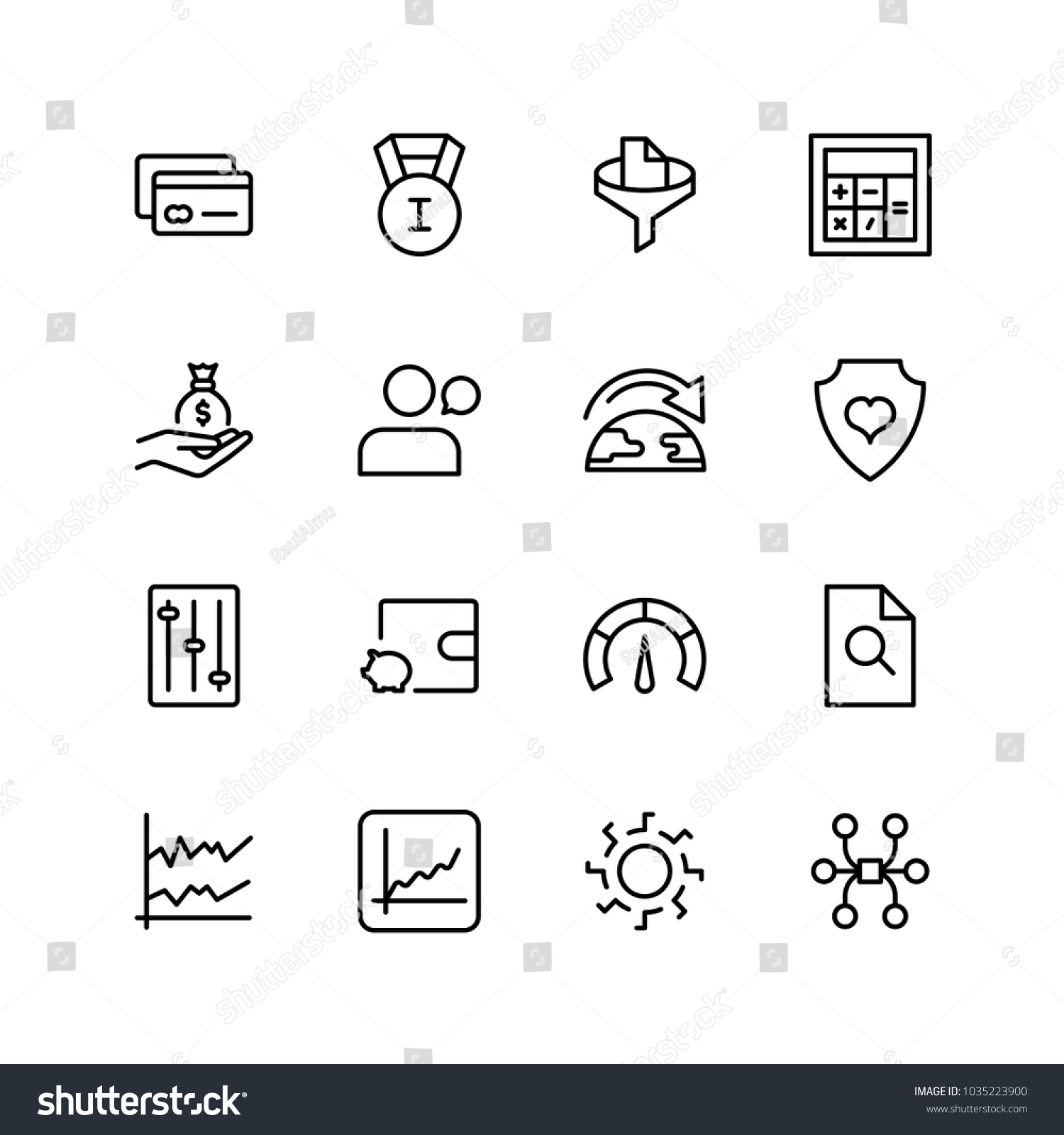 Trade Flat Icon Set Single High Stock Vector Hd Royalty Free