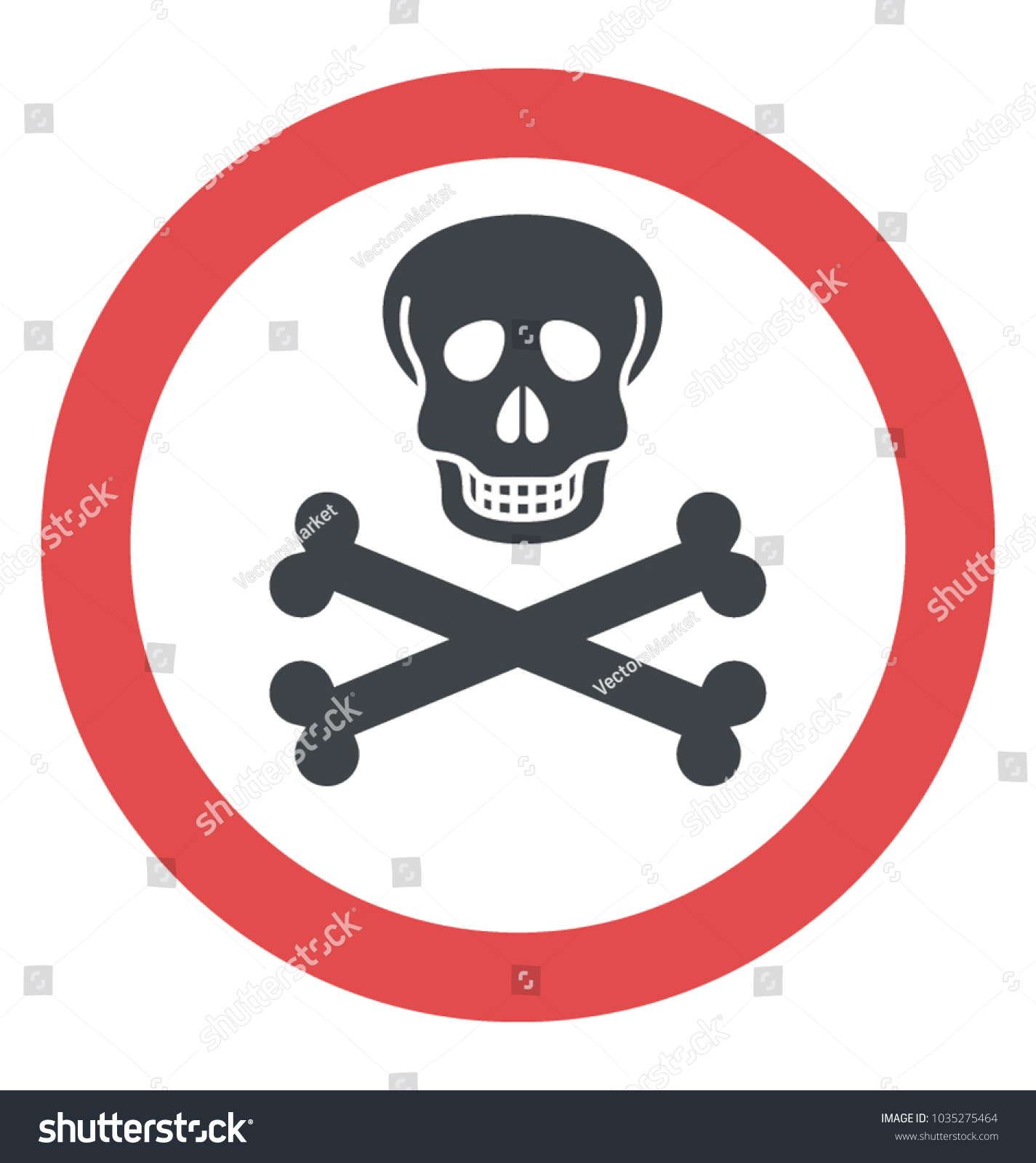 Skull crossbones toxic symbol stock vector 1035275464 shutterstock skull and crossbones the toxic symbol biocorpaavc Images
