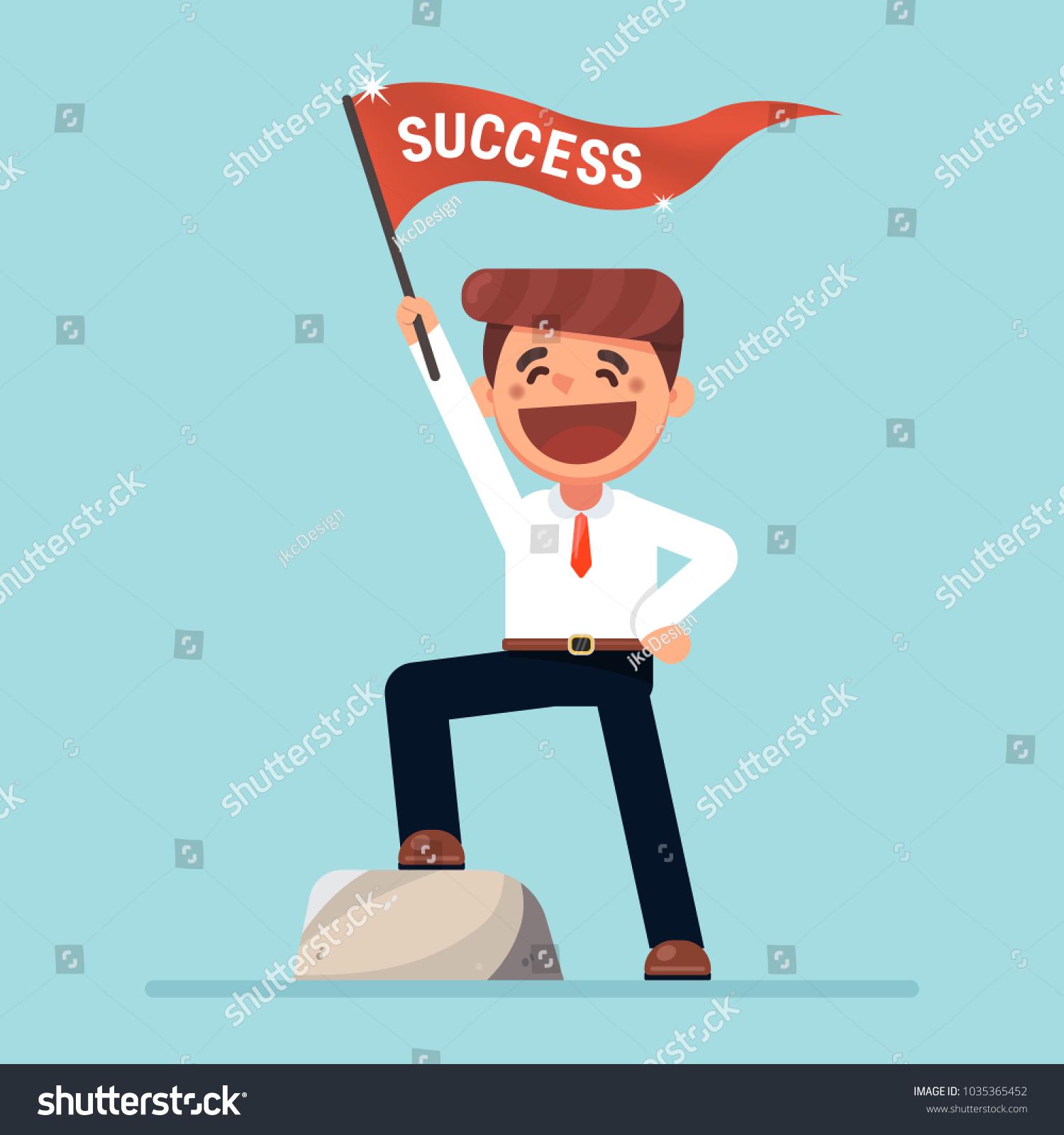 businessman smile waving flag success cartoon stock vector royalty free 1035365452 https www shutterstock com image vector businessman smile waving flag success cartoon 1035365452