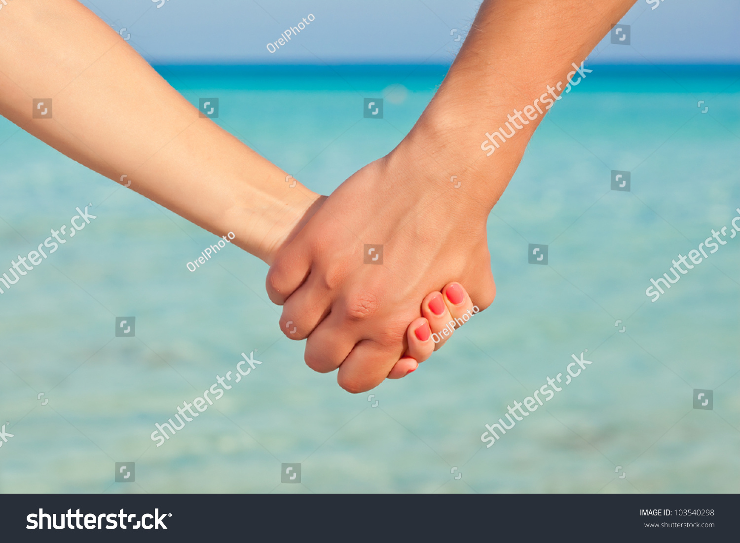 Hands Two People Close Up They Stock Photo 103540298 ...