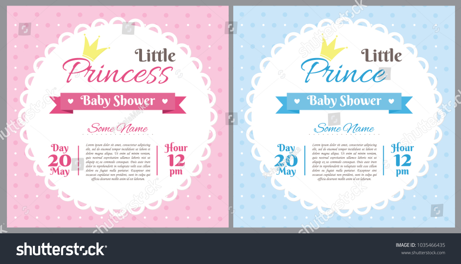 Set baby shower invitation card baby stock vector 1035466435 set of baby shower invitation card baby frame with stroller and stickers on striped background filmwisefo