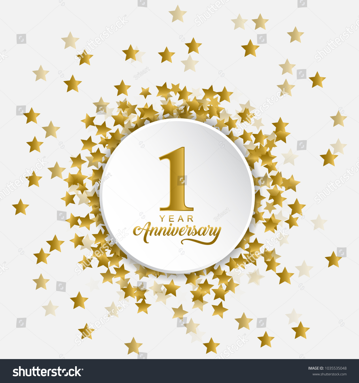happy 1 year anniversary middle fly stock vector royalty free