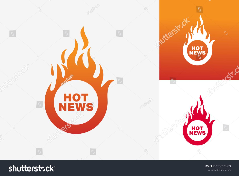 Hot news logo template design vector stock vector royalty free hot news logo template design vector emblem design concept creative symbol icon maxwellsz