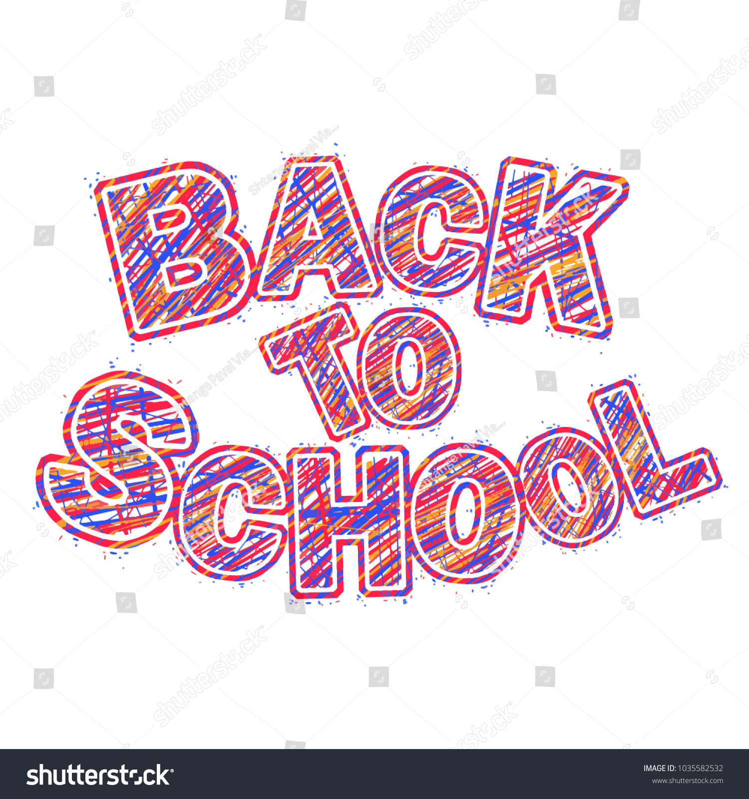 Word Back School Vector Word Pencil Stock Vector (Royalty Free ...